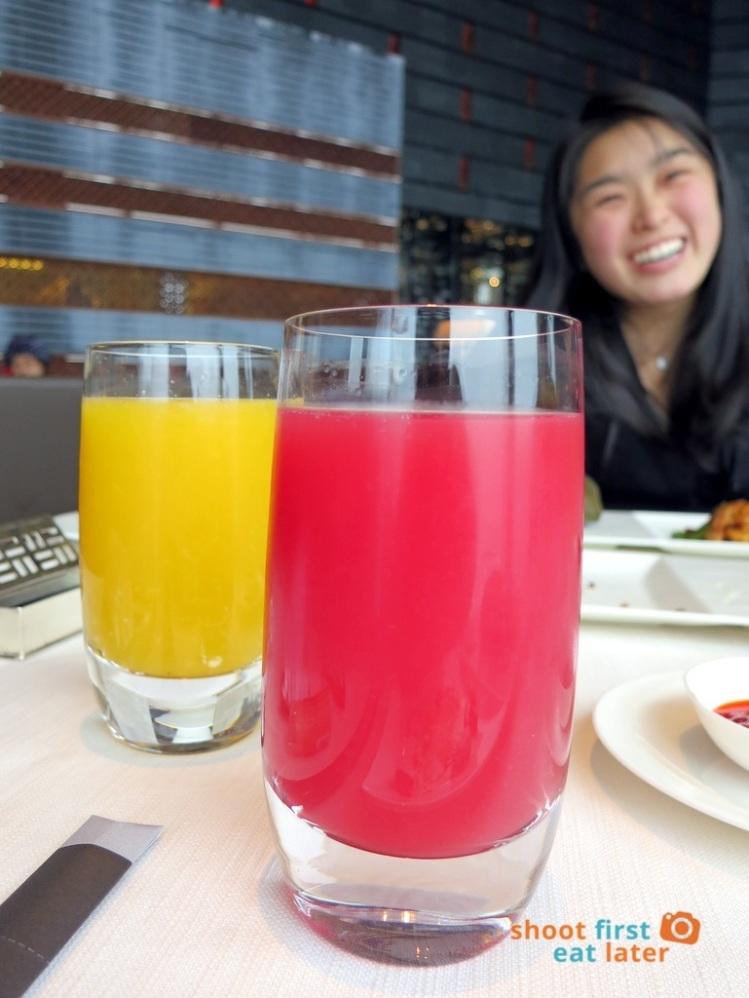 Tin Lung Heen - Orange and Watermelon Juice