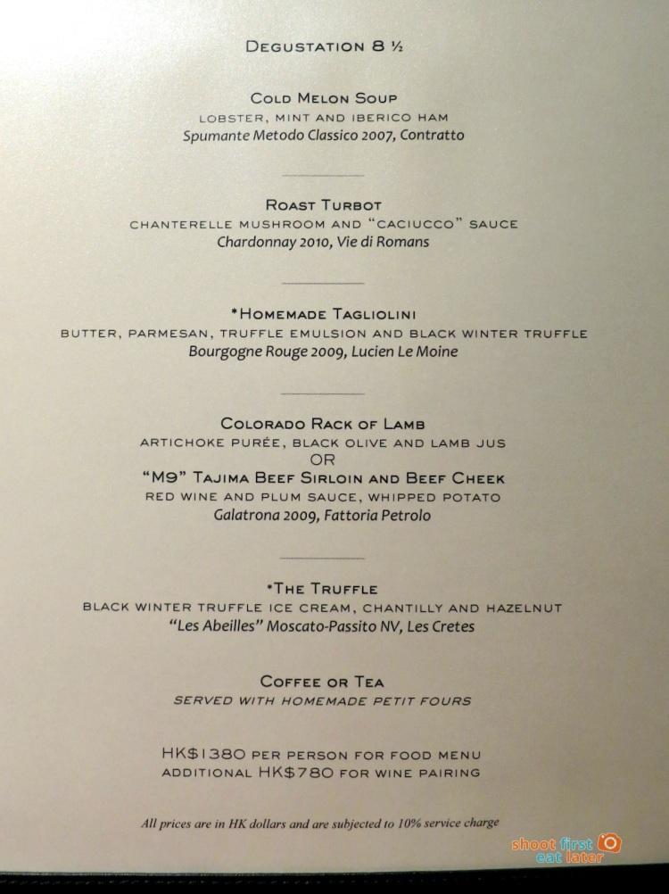 8 1:2 Otto e Mezzo Bombana HK menu-001