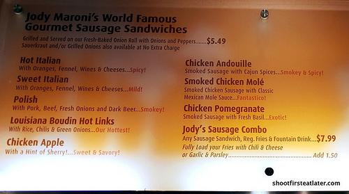 Jody Maroni gourmet sausages