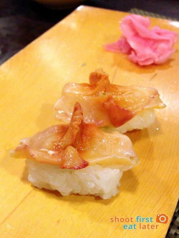 Tanabe Japanese Resaurant- Akagai (arc shell) sushi P150 each