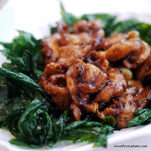 sauteed chicken w/ chinjew sauce