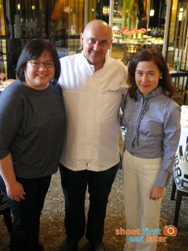 Chef Richard Toix with Leslie and Rochelle