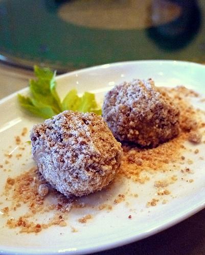 glutinous dumpling stuffed w/ chocolate