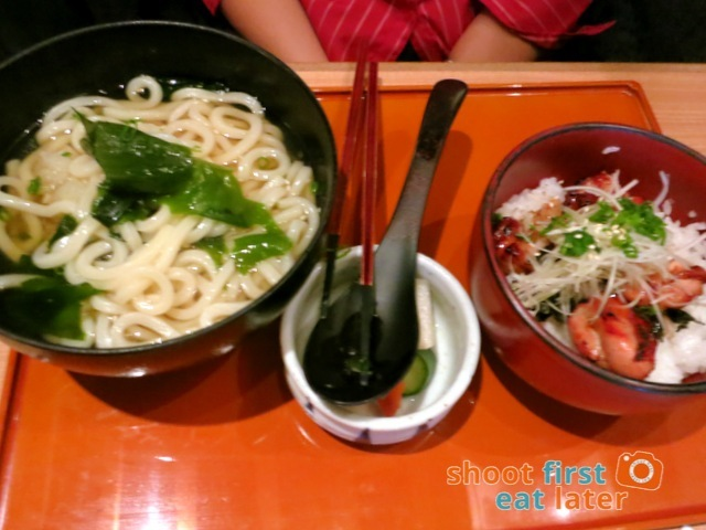 OOtoya HK- grilled chicken rice & udon set HK$75