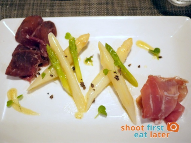 asparagus salad, cured cold cuts