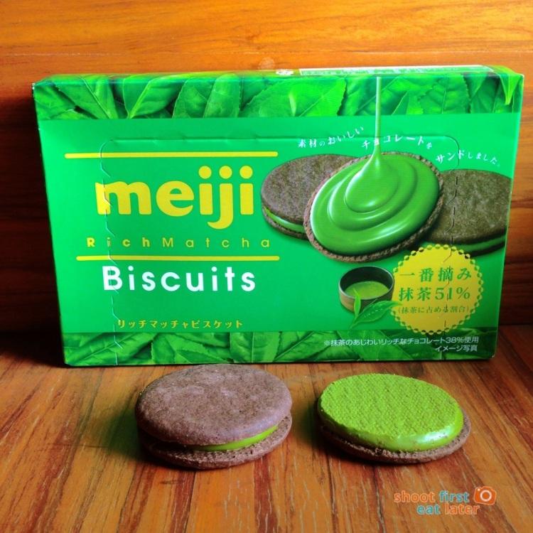 Meiji Rich Matcha Biscuits