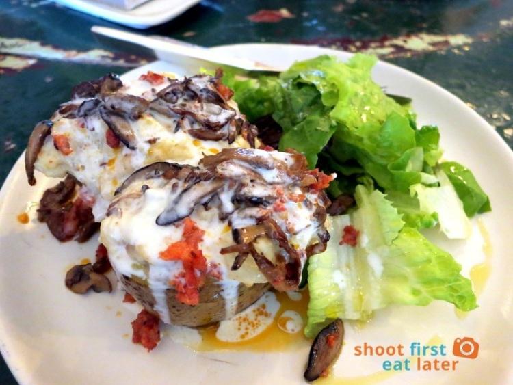 ✔✔✔  mushroom & cistorra baked potato spuds P450