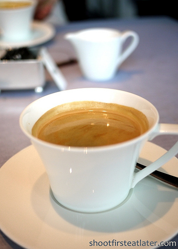 Tosca at the Ritz-Carlton Hong Kong- Coffee