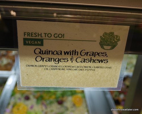 quinoa w/ grapes, oranges & cashews