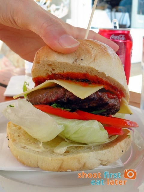 Bottle of Milk, Lorne- fire engine burger