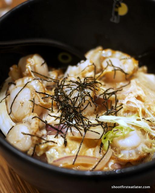 Hokkaido scallops & scrambled eggs on rice