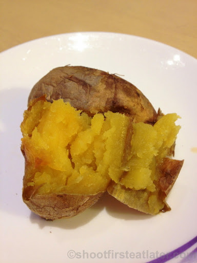 China Airlines Lounge in Taipei airport- sweet potato-003