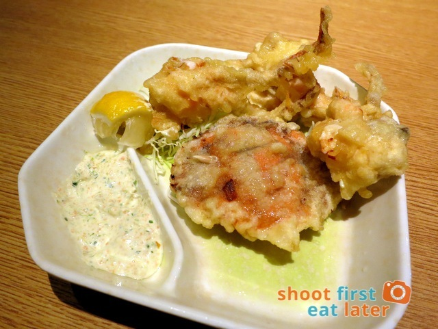 Jika Udon- fried soft shell crab HK$32
