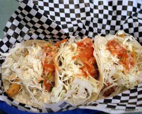 Pelons Baja Grill- fish tacos
