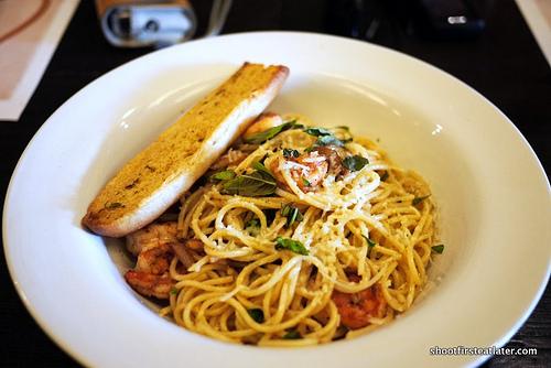 spaghetti aglio olio e gambero