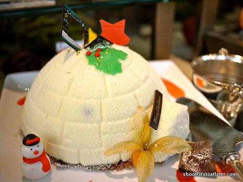 white chocolate dome