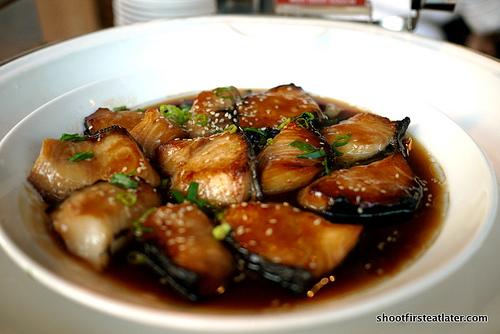 pan fried cod fish w/ mirin sauce