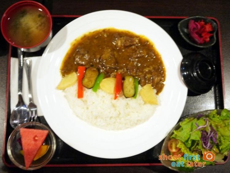 Toki Japanese REstaurant- wagyu curry set P550