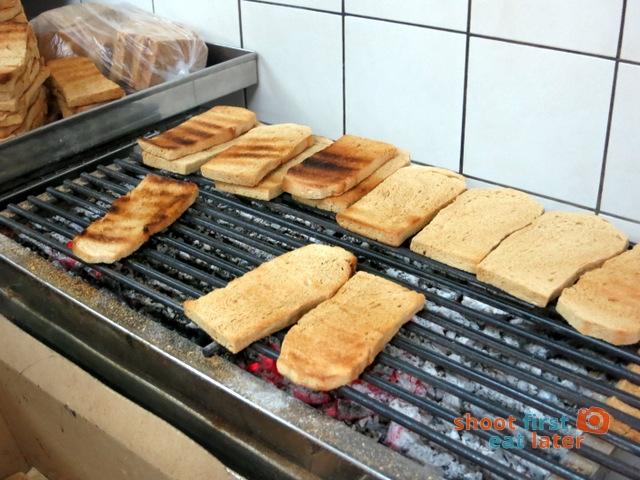 Ya Kun Kaya Toast- grilling bread