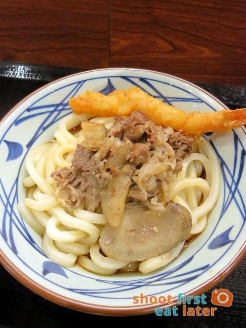 Marugame Udon - beef & burdock udon (M) HK$35