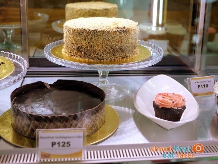 Lucca Bakery (SM Mega Fashion Hall)- Toffee Crunch Cake P110, Flourless Indulgence Cake P125