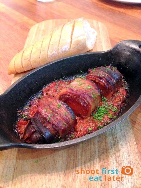 Wildflour Café + Bakery Podium - Bacon Wrapped Chorizo, Dates in Spicy Tomato Sauce P275