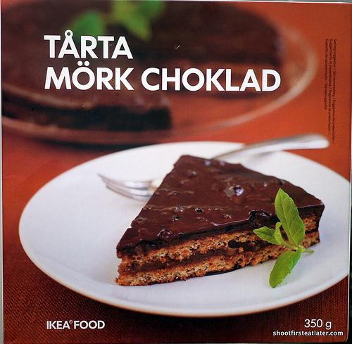 Ikea Almond Cake w: Dark Chocolate-1