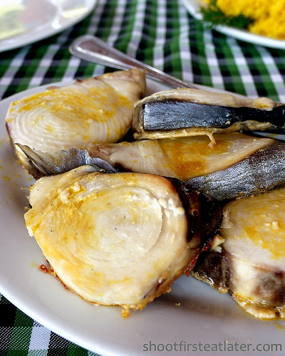 grilled tanigue steaks