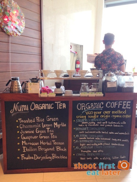 Green Pastures Shangri-La East Wing - pour over coffee & Numi tea