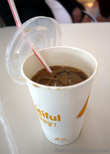 Cafe de Coral's iced coffee