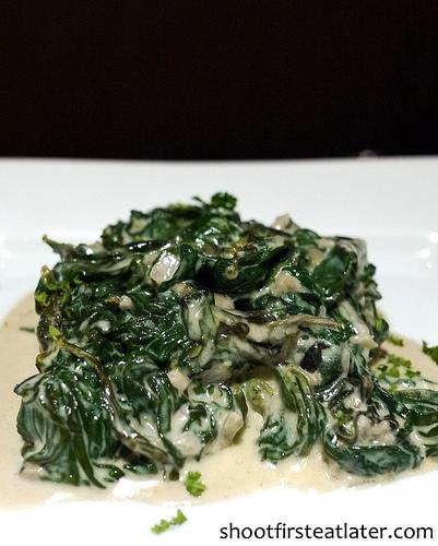 Myron's creamed spinach