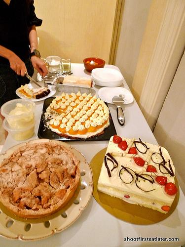 Dessert table - before