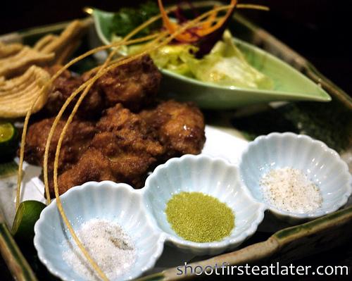 Japanese fried chicken w/ 3 salts