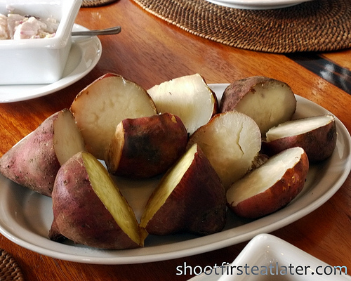 Fundacion Pacita, Batanes- boiled sweet potatoes