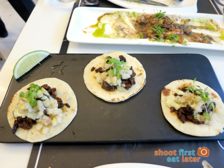 Todd English Food Hall Manila- Asada Steak with Pear Salsao TAco P320