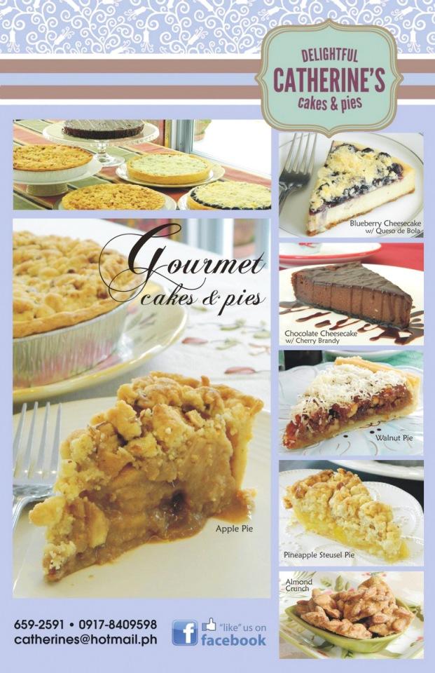 Catherine's Cakes & Pies menu