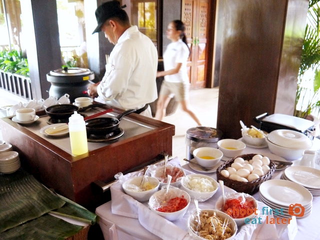 breakfast buffet at Balesin clubhouse