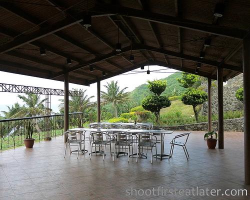 Batanes Resort's outdoor dining room