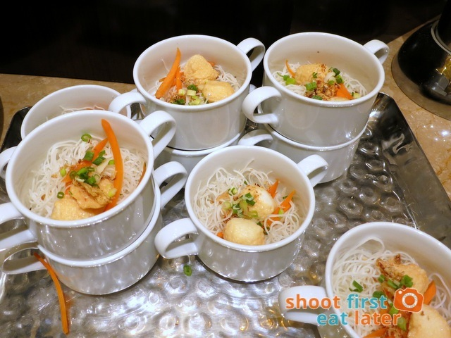 Sheraton Macao Club Lounge breakfast buffet - fish noodle soup