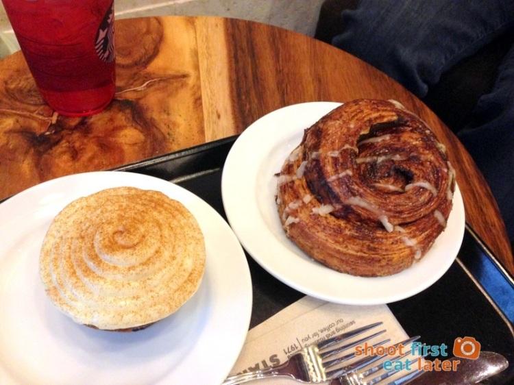 Starbucks Reserve Manila- Carrot Muffin P95 and Cinnamon Danish P65