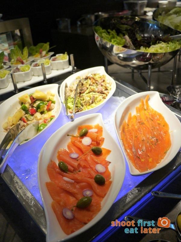 Marco Polo Hotel Ortigas Cucina Restuarant Buffet- smoked salmon, marinated salmon, duck salad