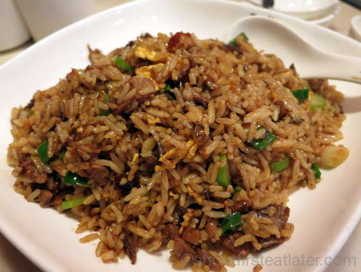 fried rice with roasted goose & preserved vegetables HK$62