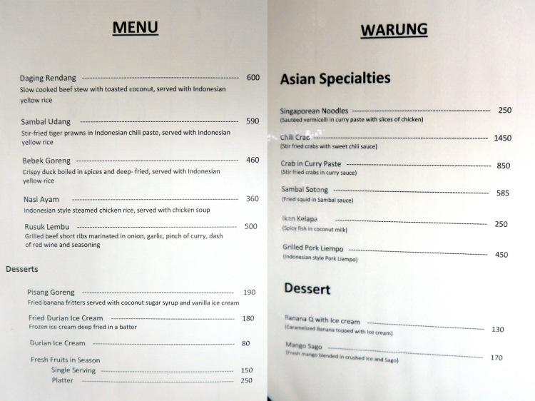 Balesin Island Club - Bali Village-menu 1