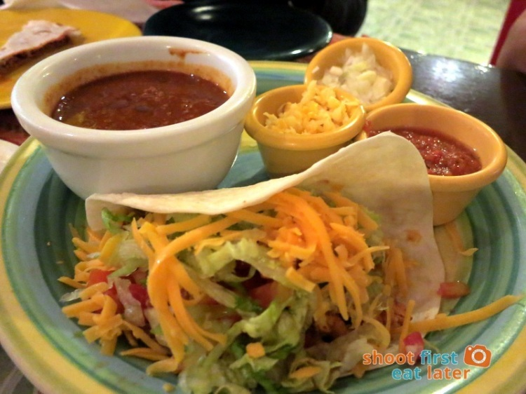 Iguana's Authentic Mexican Food- Combination Platter - Chili Con Carne & Soft Taco P240