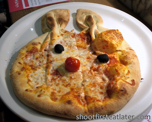 children's menu- cheese pizza